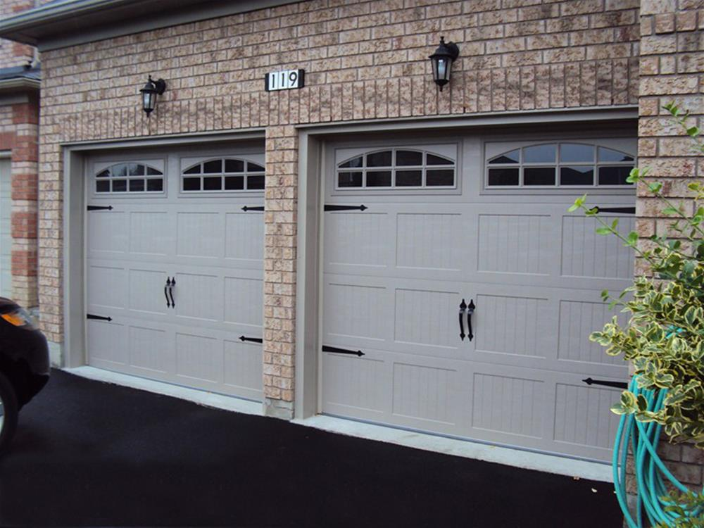 Stamped Steel Carriage Style Garage Doors Top Notch